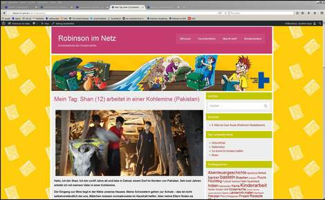 Robinson - Website für Kinder